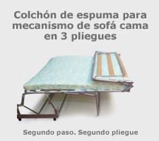Colch n mecanismo sof cama tres pliegues for Sofa cama sin colchon