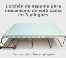 Colch n mecanismo sof cama tres pliegues for Colchon para sofa cama libro