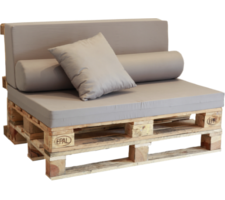 Sof palet europeo for Ideas para hacer sillones con palets